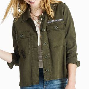 Lucky Brand Military Shirt Jacket L